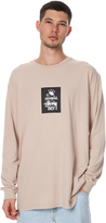 Stussy Crown World Ls Mens Tee Pink