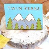 Wren & Wilson Twin Peaks Hand Painted Pin Badge