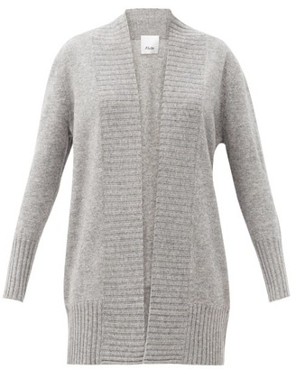 Allude Open-front Wool-blend Cardigan - Grey