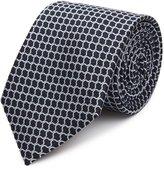 Reiss Belmont - Graphic Silk Tie in Blue, Mens