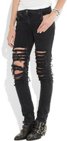 Christopher Kane Ripped low-rise skinny jeans