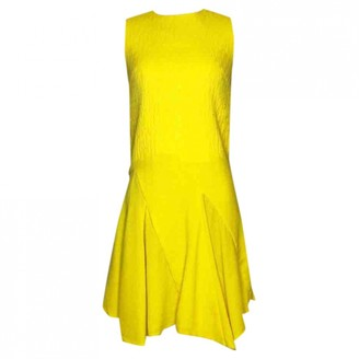 Christian Dior Yellow Wool Dresses