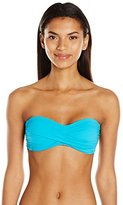 Anne Cole Women's Live in Color Twist Bandeau Bra Bikini Top