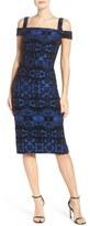 ECI Flocked Midi Dress