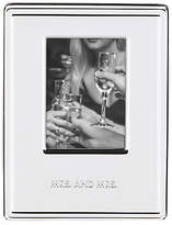 Kate Spade Darling Point Mrs & Mrs Photo Frame, Silver