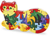 Wood Like To Play Handmade Wooden Alphabet Cat Puzzle