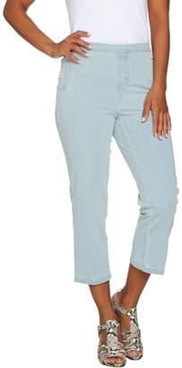 Isaac Mizrahi Live! Regular 24/7 Denim Pull-On Crop Jeans
