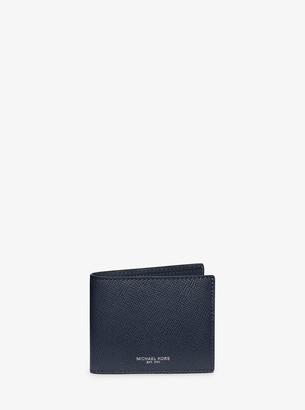Michael Kors Harrison Crossgrain Leather Slim Billfold Wallet