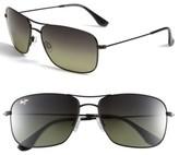 Maui Jim Women's Wiki Wiki 59Mm Polarizedplus2 Aviator Sunglasses - Gloss Black