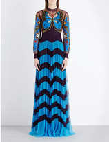 Mary Katrantzou Butterfly-embroidered tulle dress