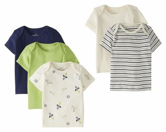 Moon and Back by Hanna Andersson Baby 5 Pack Lap Neck Crew Tee