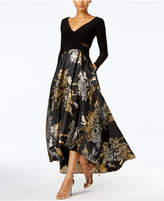 Xscape Evenings High-Low Brocade Gown