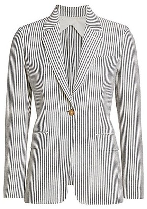 Max Mara Acerbo Striped Two Button Blazer