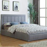 Grey Modern Queen Gas Lift Storage Bed & Deluxe Mattress