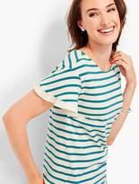 Talbots Flutter-Sleeve Tee - Crofton Stripes