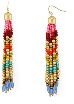 Aqua Lindy Beaded Tassel Earrings - 100% Exclusive