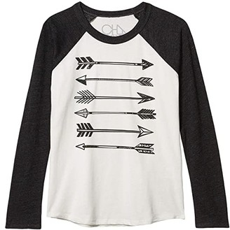 Chaser Arrows Cotton Jersey w/ Tri-Blend Raglan Baseball Tee (Little Kids/Big Kids) (Salt/Black) Boy's Clothing