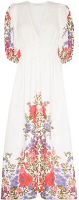 Zimmermann Poppy floral-print midi shirtdress