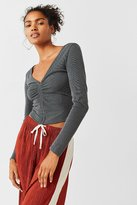 Urban Outfitters Madison Ruched Long Sleeve Top