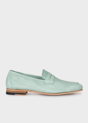 Paul Smith Women's Mint Green Leather 'Glynn' Penny Loafers
