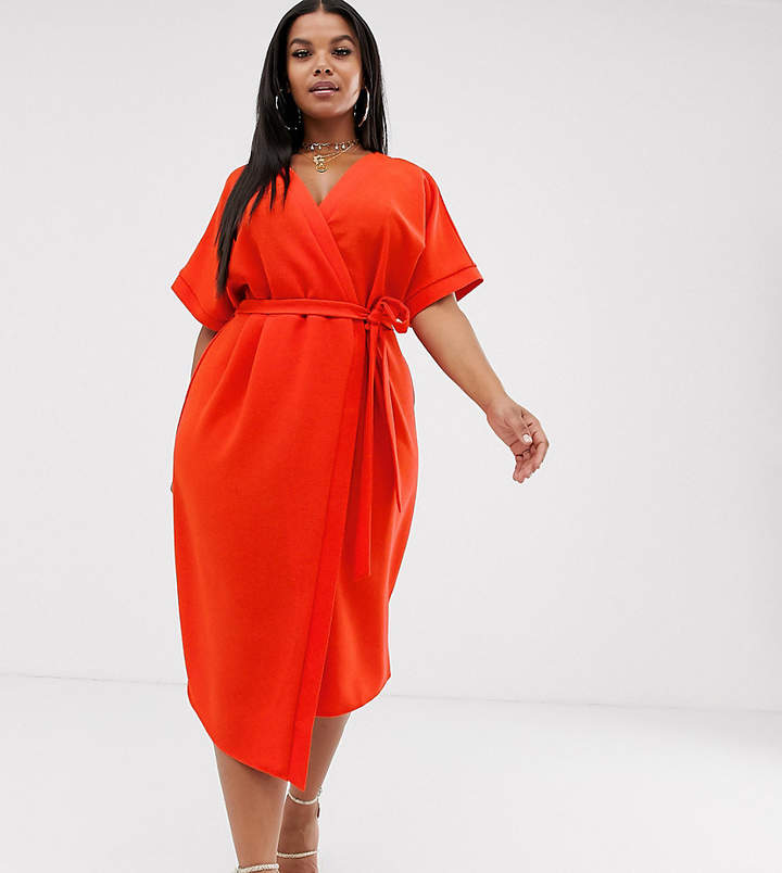 e3458f29ee9 Asos Red Wrap Dresses - ShopStyle UK