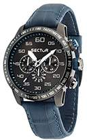 Sector No Limits 850 Men's Quartz Watch with Grey Dial Analogue Display and White Leather Strap R3251575007
