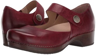 Dansko Beatrice (Red Waxy Burnished) Women's Shoes
