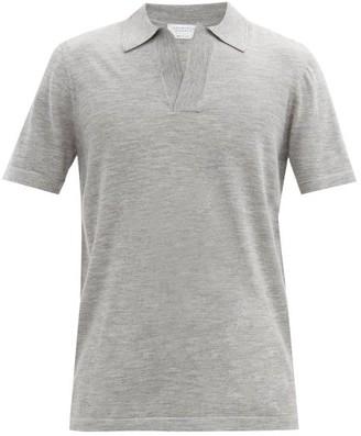 Gabriela Hearst Jinete Open-collar Wool Polo Shirt - Grey