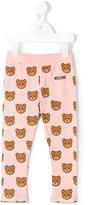 Moschino Kids - teddy bear print leggings - kids - Cotton - 2 yrs