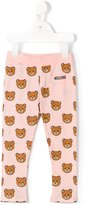 Moschino Kids teddy bear print leggings