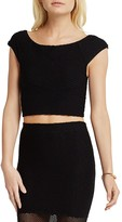BCBGeneration Seamless Ribbed Crop Top