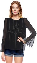 Juicy Couture Embellished Georgette Top