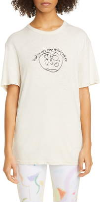 Collina Strada Helping World Embroidered Hemp & Organic Cotton T-Shirt