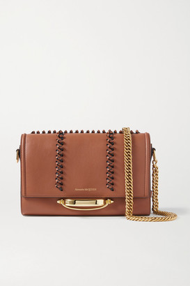 Alexander McQueen The Story Leather Shoulder Bag - Brown
