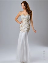 Nina Canacci - 7121 Dress in Ivory
