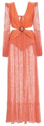 PatBO Mesh Beach Maxi Dress
