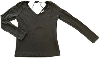 Maje Khaki Cotton Knitwear for Women