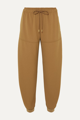 Chloé Satin-jersey Tapered Track Pants - Beige