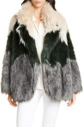Smythe Tricolor Faux Fur Coat