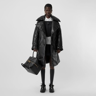 Burberry Lambskin Down-filled Oversized Trench Coat