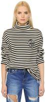 SteveJ & YoniP Striped Cotton Turtleneck Sweater