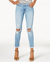 Flying Monkey Ripped Frayed-Hem Skinny Jeans