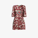 Dolce & Gabbana floral embroidered mini dress