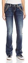 Miss Me Women's Trouser Front Pocket Boot Cut Jean