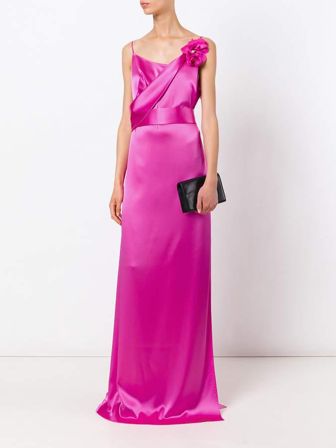 Lanvin floral applique gown