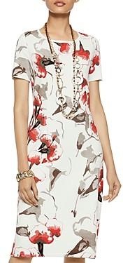 Misook Floral Pattern Knit Dress