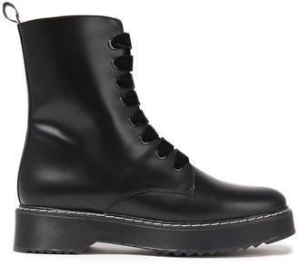 Claudie Pierlot Anabelle Leather Combat Boots