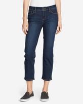 Eddie Bauer Women's Elysian Slim Straight Crop Jeans