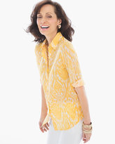 Chico's Ikat Damask Button-up