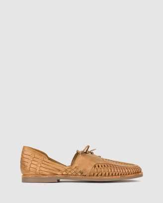 Zu Men's Brown Casual Shoes - Charter Woven Leather Huaraches - Size One Size, 9 at The Iconic